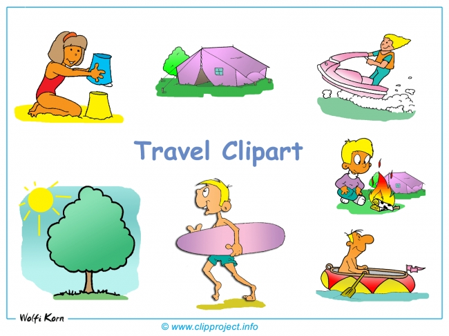 Free Travel Clipart Background