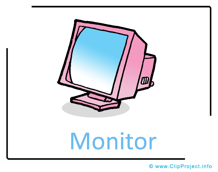 ... : Computer Monitor Clipart Image free - Computer Clipart Images free