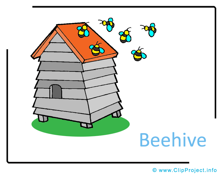 clipart beehive - photo #35