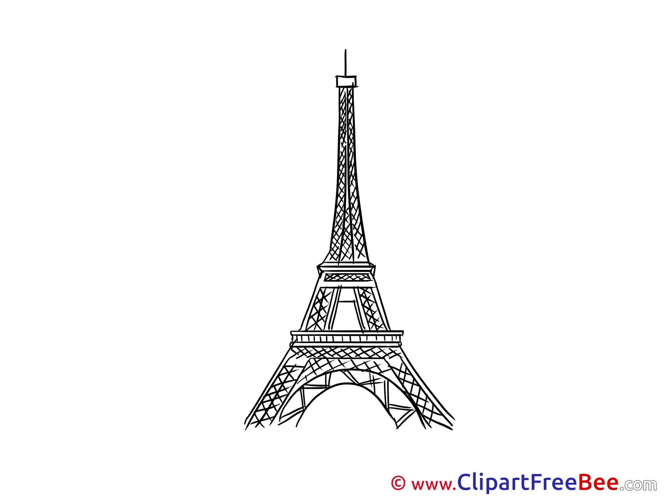 Нарисовать эйфелеву башню на стене схема