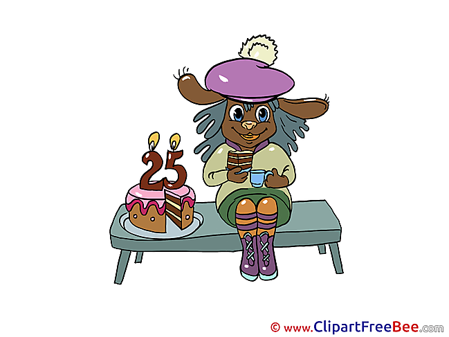 25 Years Hare printable Birthday Images