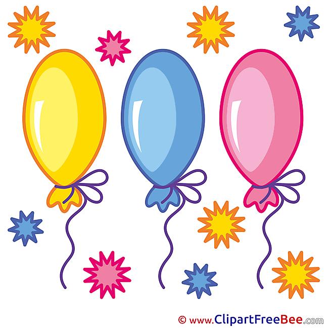 Balloons free Cliparts Birthday