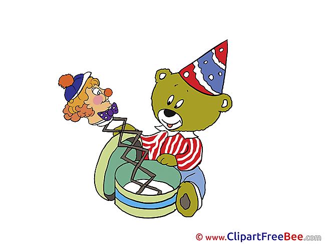 Bear Toy Pics Birthday Illustration