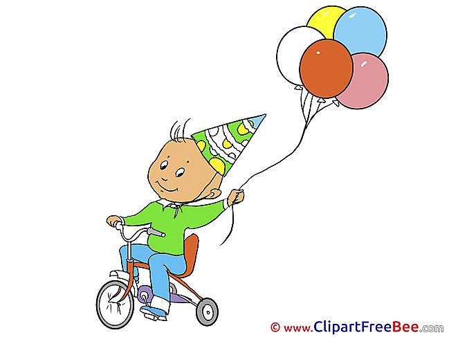 Bicycle Balloons Pics Birthday free Cliparts