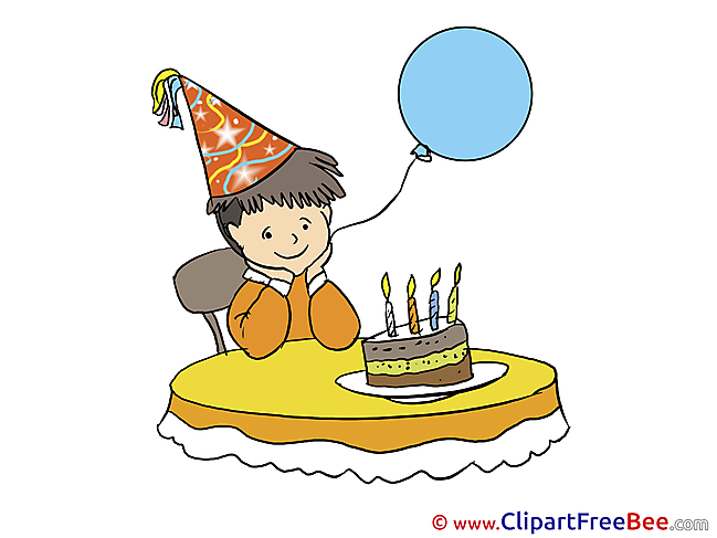 Boy Balloon Cliparts Birthday for free