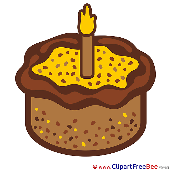 Candle in Cake Clipart Birthday Illustrations