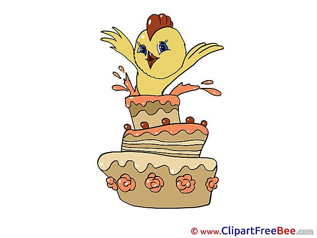 Chicken Birthday download Illustration