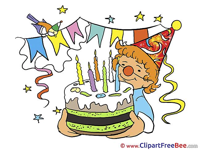 Clown Cake Birthday Clip Art for free