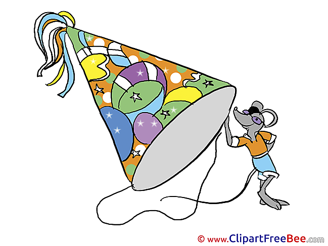 Hat Party Clipart Birthday Illustrations