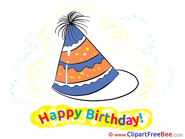 Party Hat free Postcards Birthday