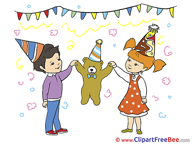 Teddy Bear Children download Birthday Illustrations