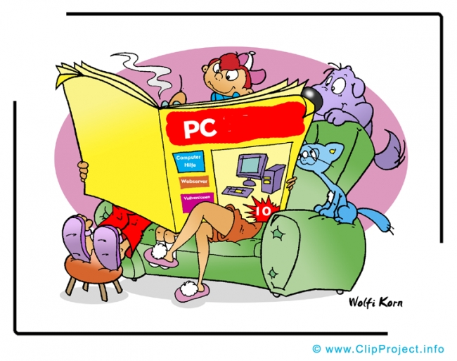 Computer Magazine Clipart Image - Business Clipart Images for free