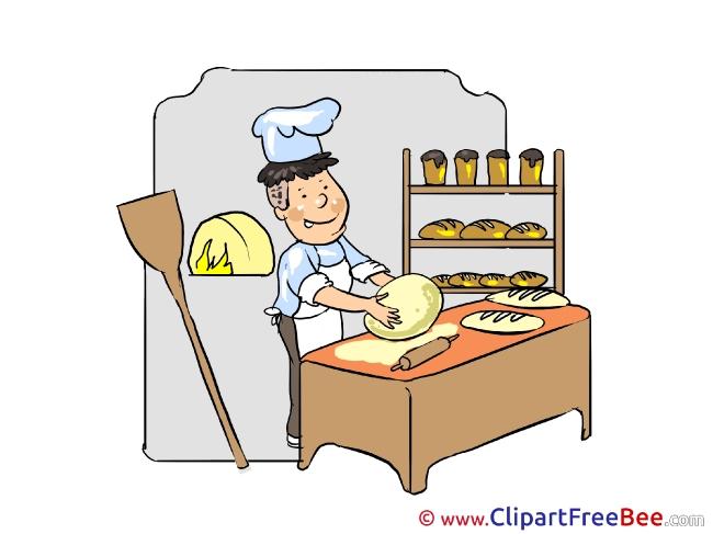 Baker Bread Clipart free Illustrations