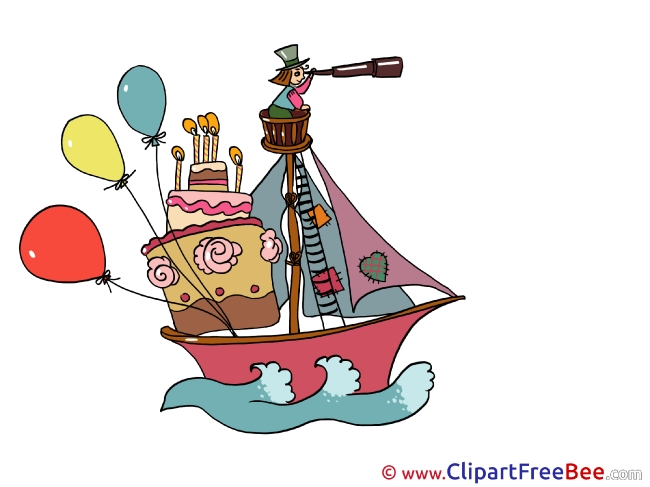 Boat Balloons printable Images for download