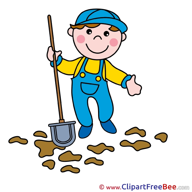 Gardener Shovel Clip Art download for free