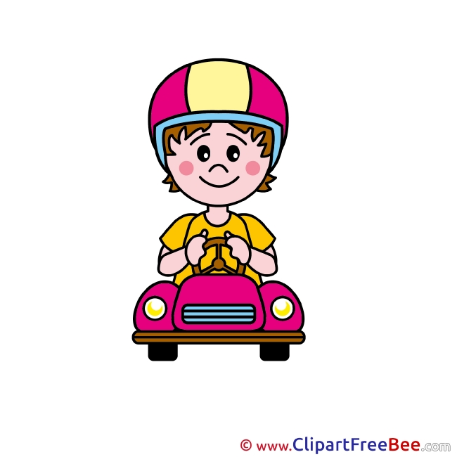 Racer Boy Clipart free Illustrations