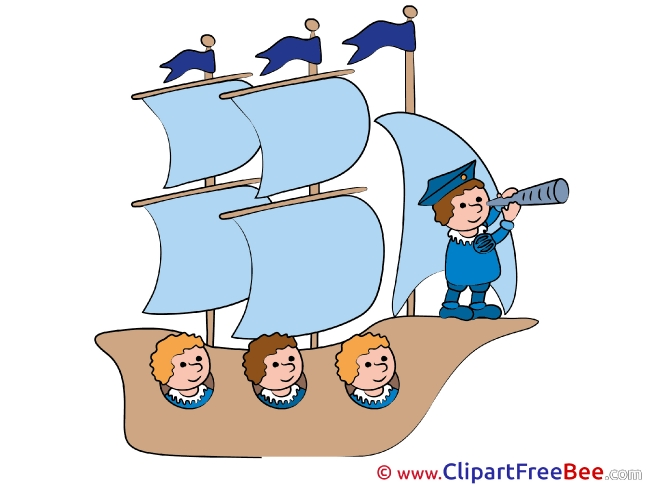 Sailling Ship Captain free Cliparts for download