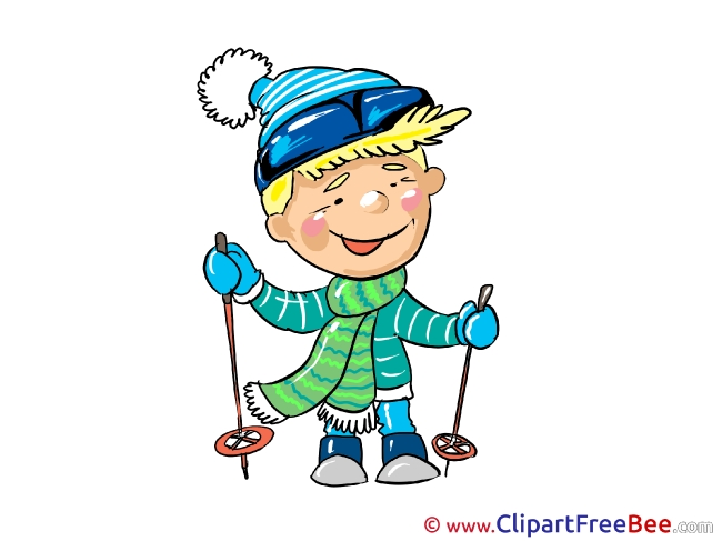Skier Boy free printable Cliparts and Images