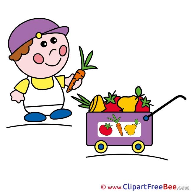 Vegetables Boy Clipart free Illustrations