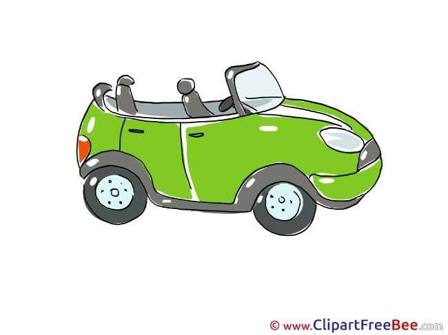 Cabriolet download printable Illustrations