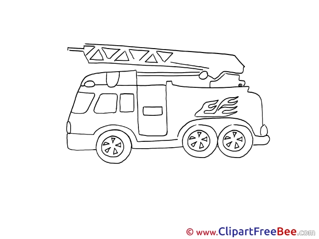 Fire Truck printable Illustrations for free