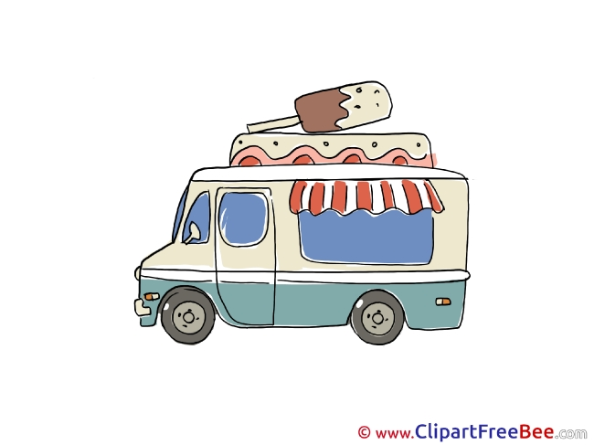 Ice Cream Truck Pics printable Cliparts