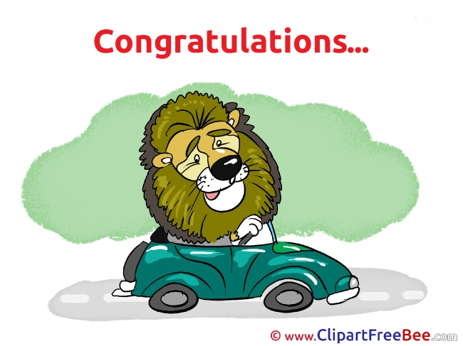 Lion Driver Clip Art download for free