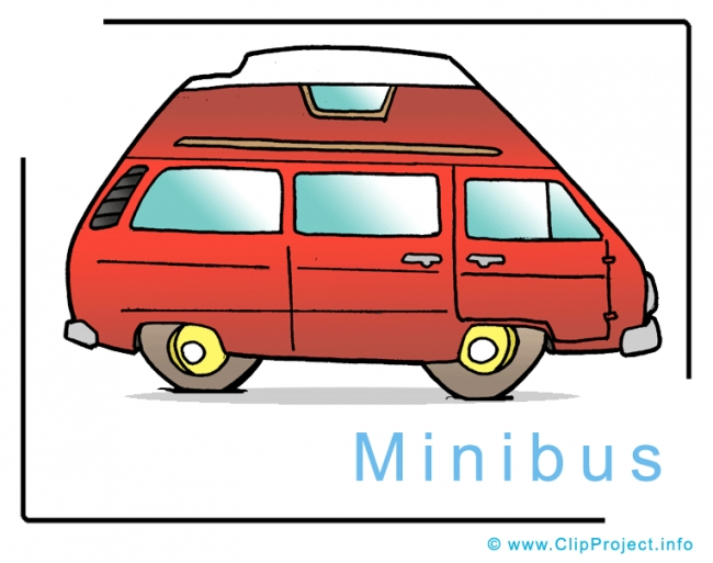 Minibus Image Clip Art free - Cars Clip Art Images free