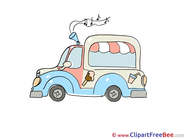 Music Ice Cream Truck Clipart free Image download