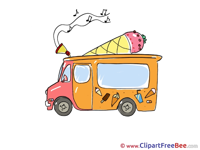 Music Ice Cream Truck printable Images for download