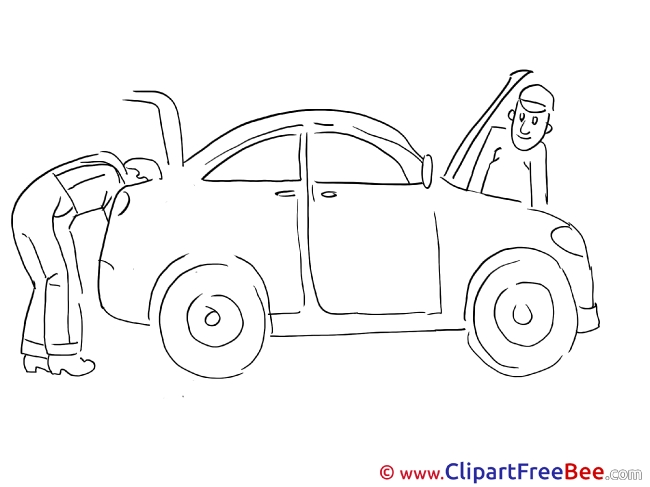 Repairs Car Clipart free Illustrations