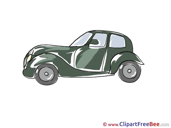 Retro Car printable Illustrations for free