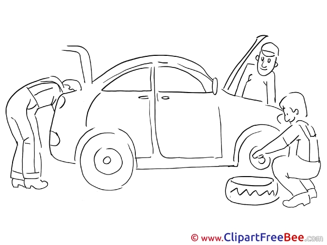 Service Station Repair Car Clipart free Image download