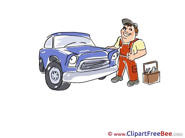 Station Service Mechanic free Cliparts for download