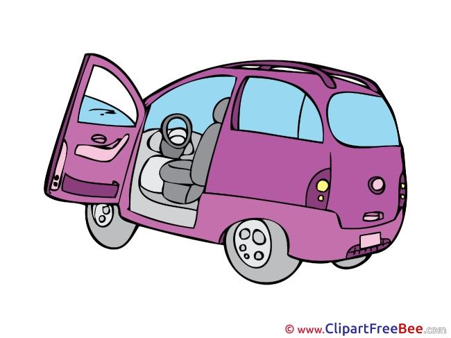 Violet Car Clip Art download for free
