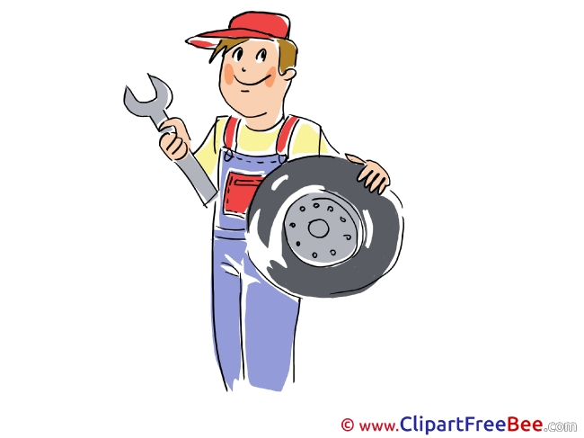 Wheel Wrench Man free printable Cliparts and Images