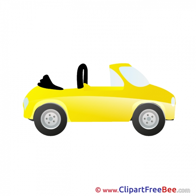 Yellow Car download Clip Art for free