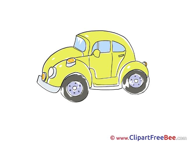 Yellow Car Pics download Illustration