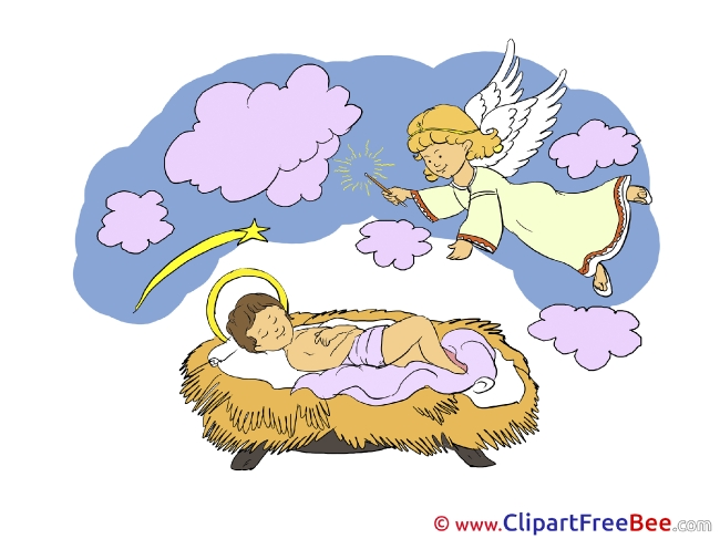 Angels Jesus Cliparts Christmas for free