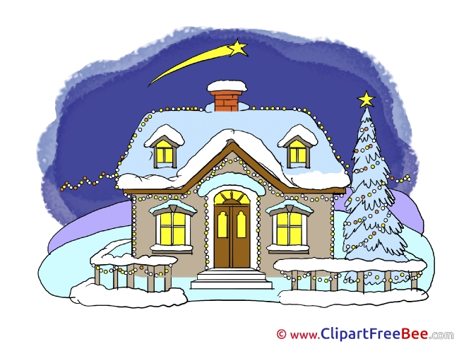Beautiful House Christmas download Illustration