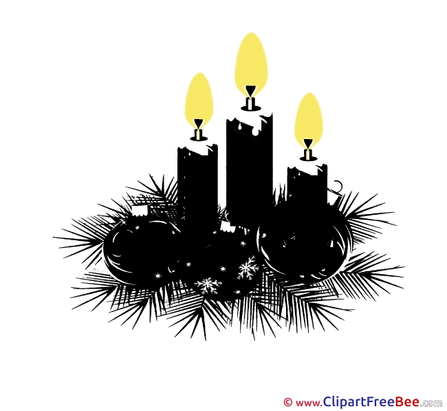 Black Candles free Illustration Christmas