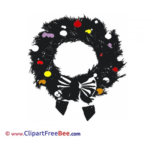 Black Wreath Pics Christmas free Cliparts