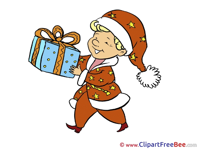 Boy Present free Cliparts Christmas
