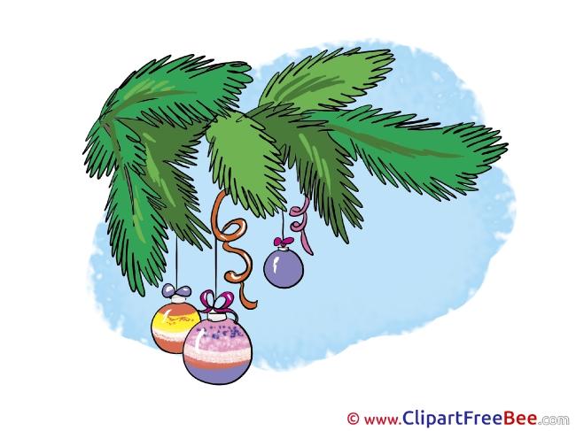 Branch Fir download Christmas Illustrations