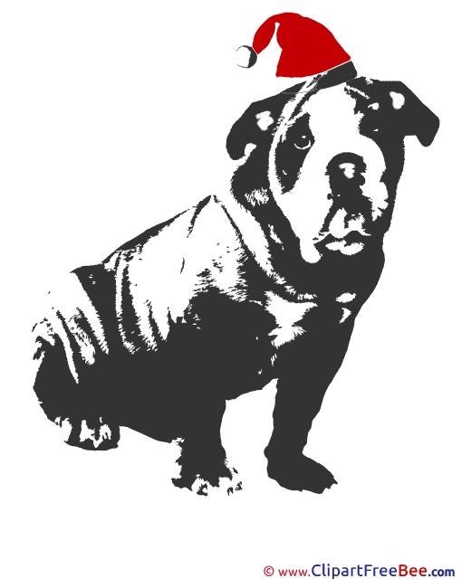 Dog Black Christmas free Images download
