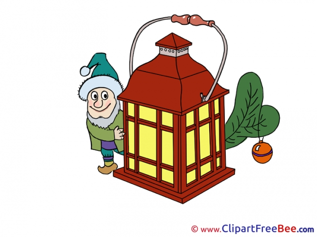 Dwarf Lantern Clipart Christmas free Images