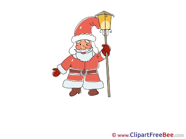 Lantern Santa Claus Pics Christmas free Cliparts
