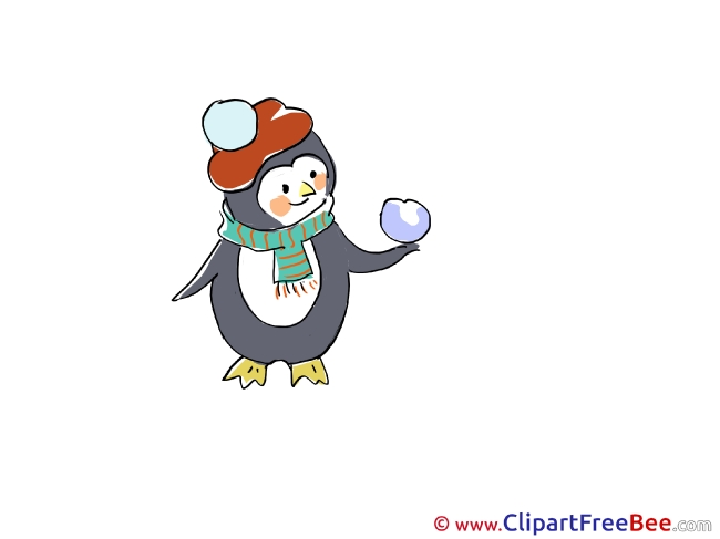 Penguin free Illustration Christmas