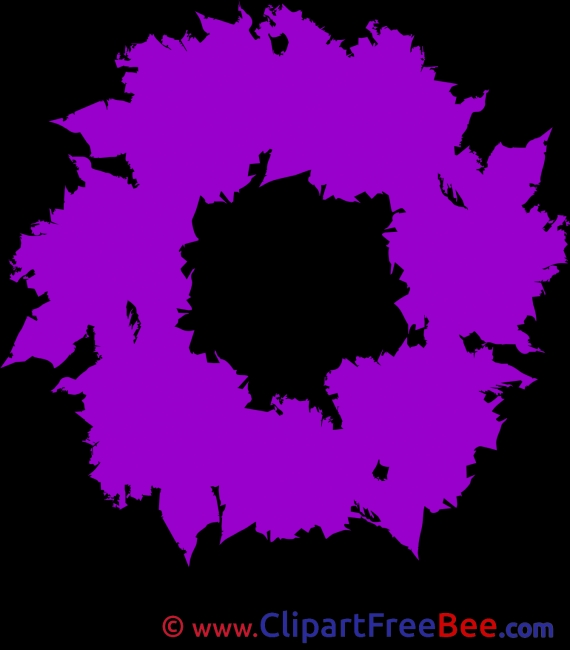Purple Wreath Cliparts Christmas for free