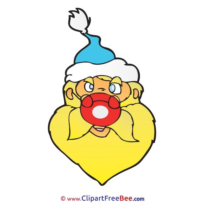 Yellow Santa Pics Christmas free Cliparts